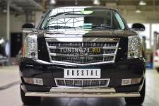 Cadillac Escalade 2007-  Защита переднего бампера d75х42 (дуга)  d75х42 (дуга) KEZ-001688